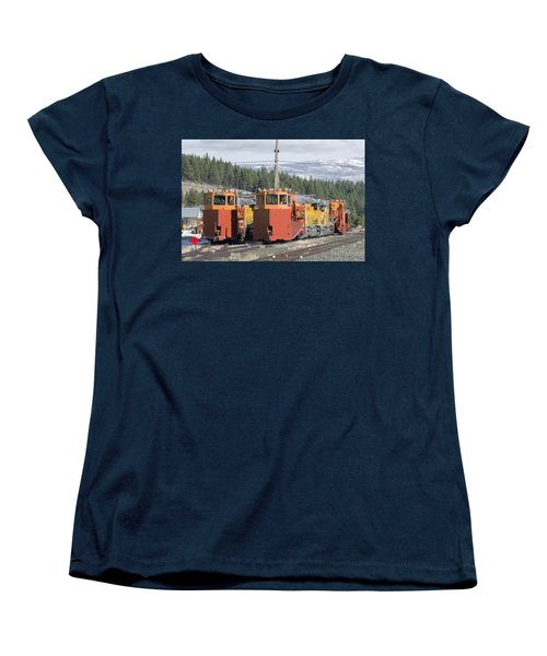 Ready For More Snow At Donner Pass Women's T-Shirt (Standard Cut) by Jim Thompson