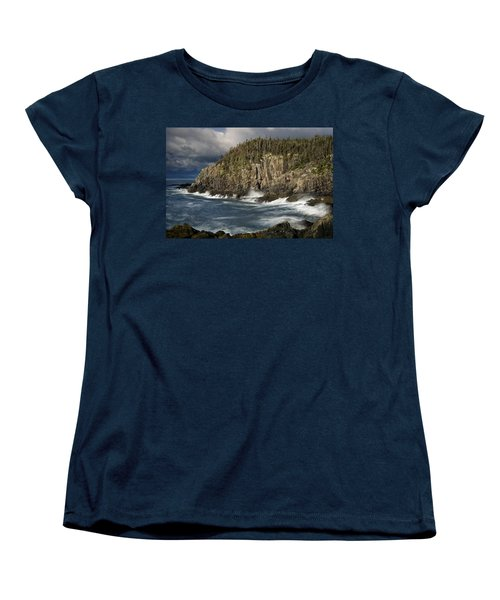 Women's T-Shirt (Standard Cut) featuring the photograph Receding Storm At Gulliver's Hole by Marty Saccone