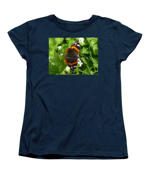 Women's T-Shirt (Standard Cut) featuring the photograph Red Admiral In Toronto by Lingfai Leung