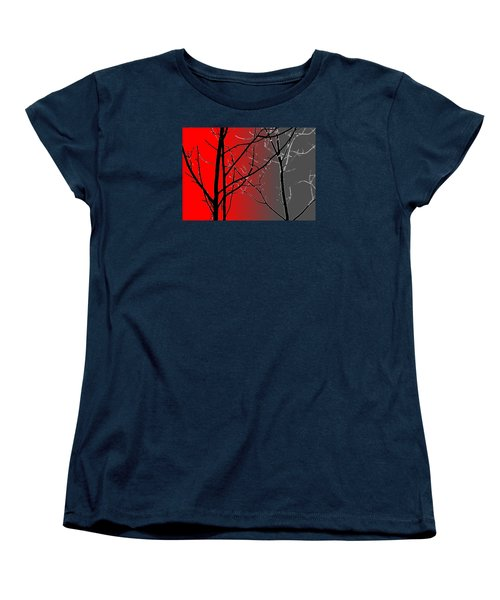 Red And Gray Women's T-Shirt (Standard Cut)