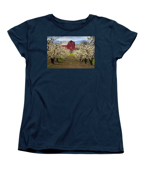 Red Barn Spring Women's T-Shirt (Standard Cut) by Mike  Dawson