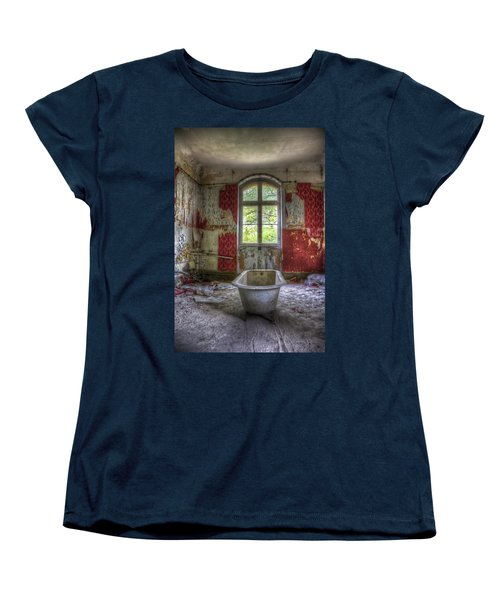 Red Bathroom Women's T-Shirt (Standard Cut) by Nathan Wright