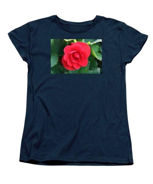 Red Begonia Women's T-Shirt (Standard Cut) by Sergey Lukashin