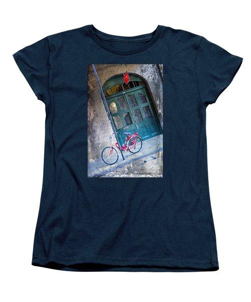 Women's T-Shirt (Standard Cut) featuring the digital art Red Bike by Erika Weber