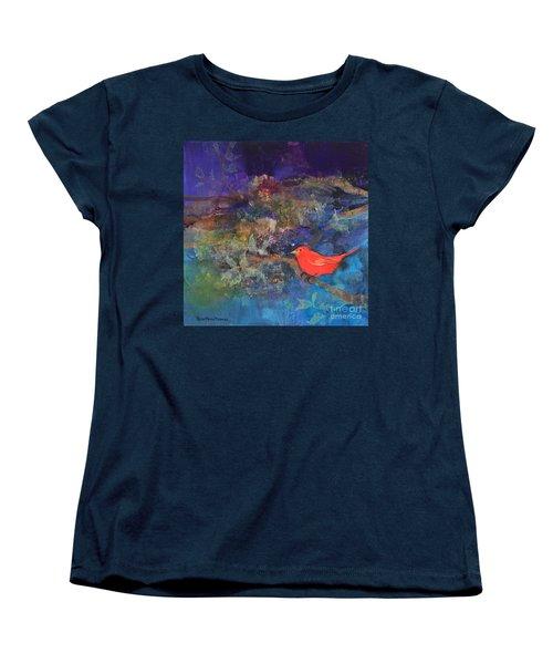 Red Bird Women's T-Shirt (Standard Cut) by Robin Maria Pedrero