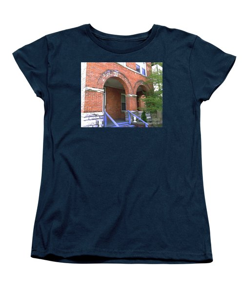 Women's T-Shirt (Standard Cut) featuring the photograph Red Brick Archway by Becky Lupe