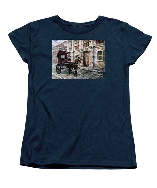 Red Carriage Women's T-Shirt (Standard Cut) by Joey Agbayani