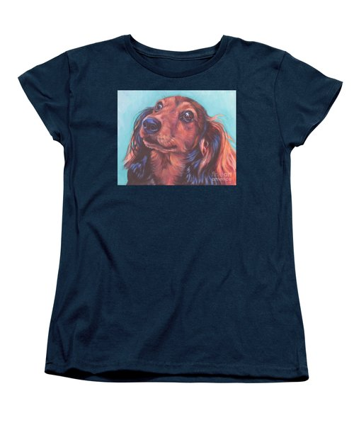 Red Doxie Women's T-Shirt (Standard Cut) by Lee Ann Shepard