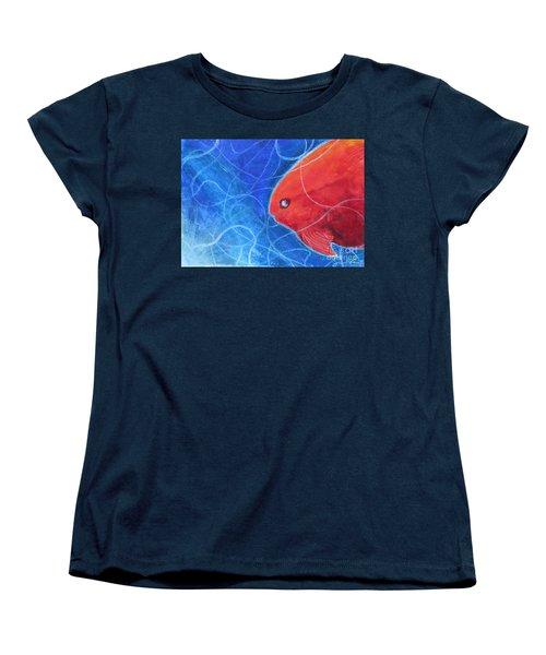 Red Fish Women's T-Shirt (Standard Cut) by Samantha Geernaert