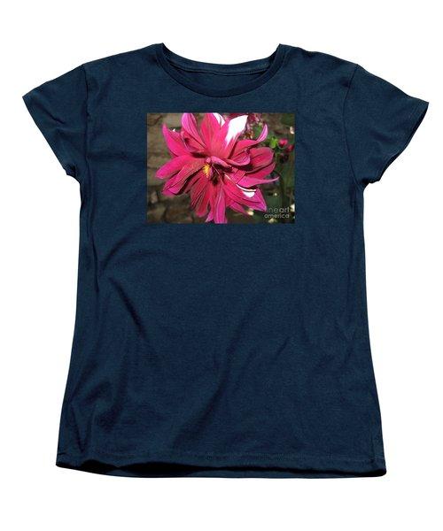 Red Flower In Bloom Women's T-Shirt (Standard Cut) by HEVi FineArt