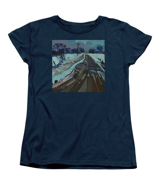 Red Horse Road Women's T-Shirt (Standard Cut) by Phil Chadwick