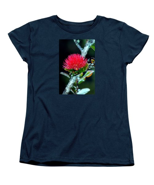Red Ohia Lehua In Hawaii Volcano Mist Women's T-Shirt (Standard Cut) by Lehua Pekelo-Stearns