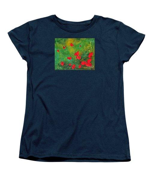 Red Poppies Women's T-Shirt (Standard Cut) by Teresa Wegrzyn