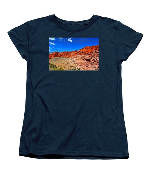 Red Rock Canyon Women's T-Shirt (Standard Cut) by Mariola Bitner