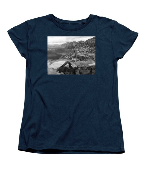 Women's T-Shirt (Standard Cut) featuring the photograph Red Rock Winter by Alan Socolik