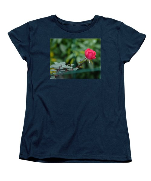 Women's T-Shirt (Standard Cut) featuring the photograph Red Rose I by Lisa Phillips