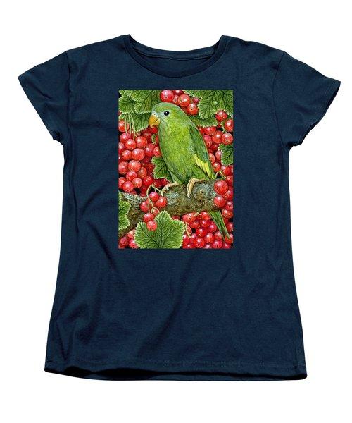 Redcurrant Parakeet Women's T-Shirt (Standard Cut)