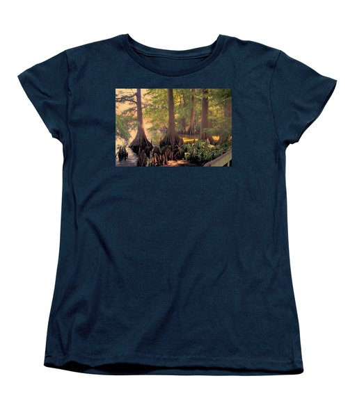 Reelfoot Lake At Sunset Women's T-Shirt (Standard Cut) by Bonnie Willis