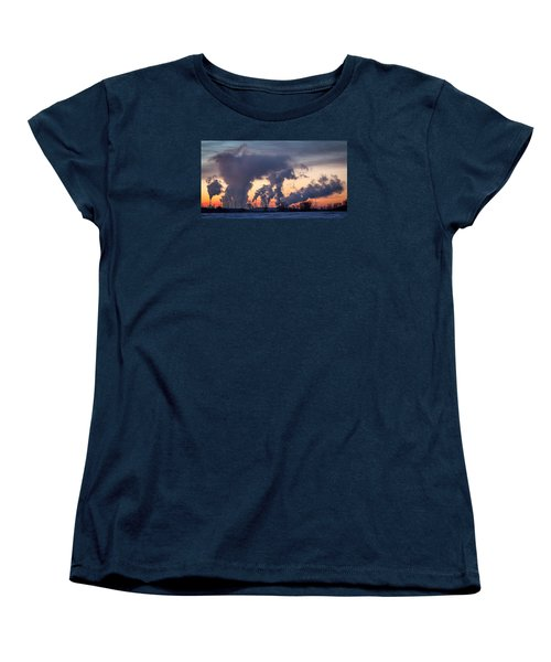 Women's T-Shirt (Standard Cut) featuring the photograph Flint Hills Resources Pine Bend Refinery by Patti Deters