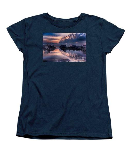 Reflecting On North Carolina Women's T-Shirt (Standard Cut) by Tony Cooper