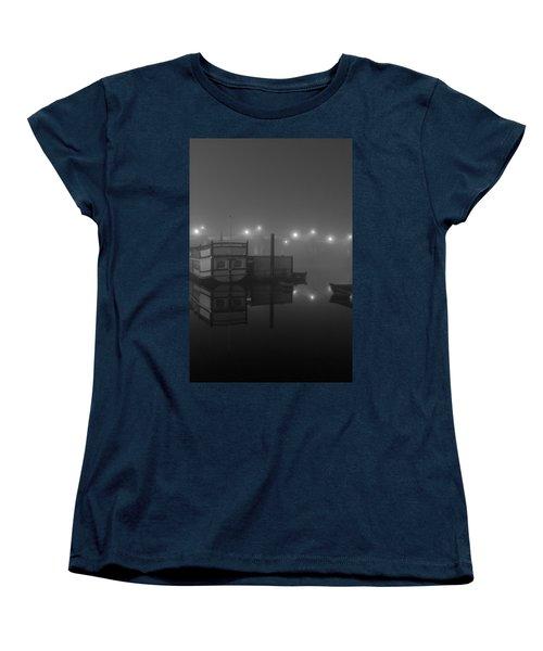 Reflection On Misty Thames  Women's T-Shirt (Standard Cut) by Maj Seda