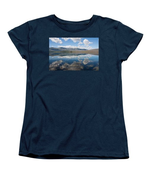 Reflections At Glacier National Park Women's T-Shirt (Standard Cut) by John M Bailey