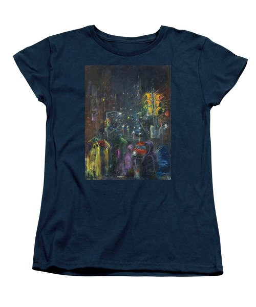 Reflections Of A Rainy Night Women's T-Shirt (Standard Cut) by Leela Payne
