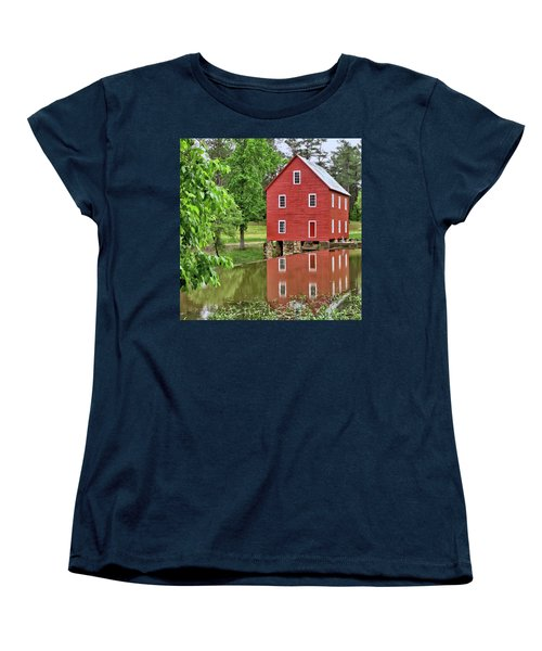 Reflections Of A Retired Grist Mill - Square Women's T-Shirt (Standard Cut)