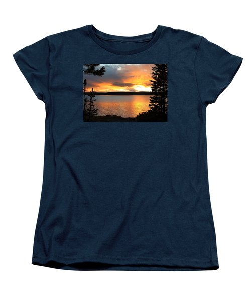 Women's T-Shirt (Standard Cut) featuring the photograph Reflections Of Sunset by Athena Mckinzie