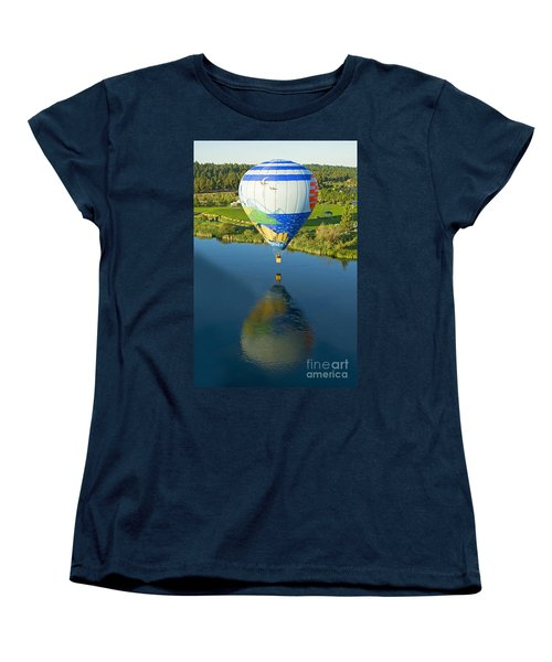 Women's T-Shirt (Standard Cut) featuring the photograph Reflections Over The Dechutes by Nick  Boren