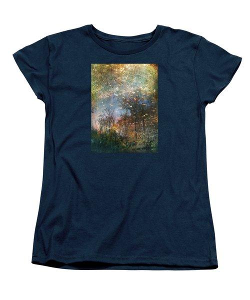 Women's T-Shirt (Standard Cut) featuring the photograph Reflective Waters by John Rivera