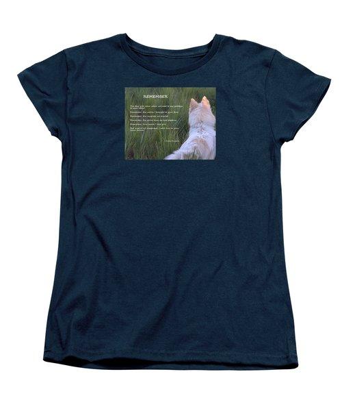 Remember Women's T-Shirt (Standard Cut) by Fiona Kennard