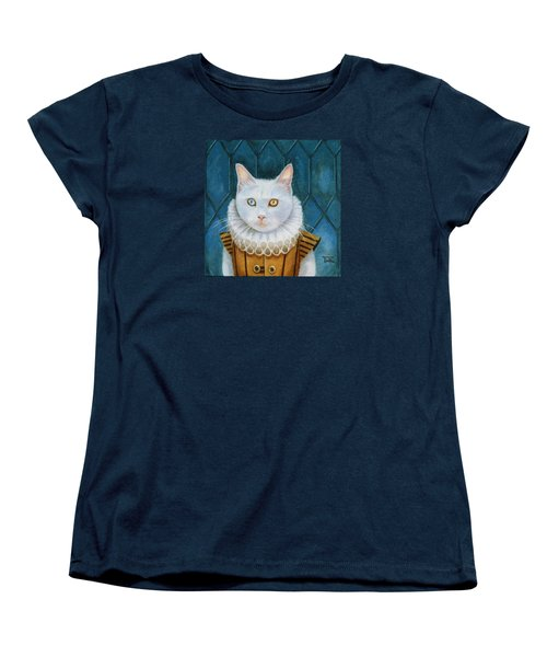 Women's T-Shirt (Standard Cut) featuring the painting Renaissance Cat by Terry Webb Harshman