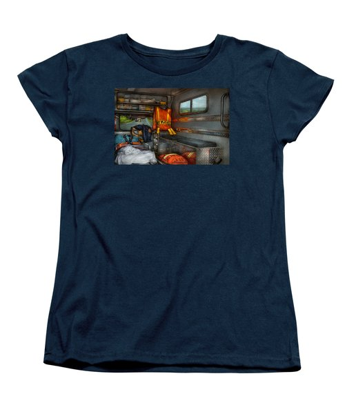 Rescue - Emergency Squad  Women's T-Shirt (Standard Cut) by Mike Savad