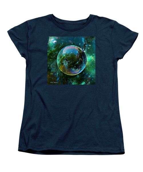Women's T-Shirt (Standard Cut) featuring the painting Reticulated Dream Orb by Robin Moline
