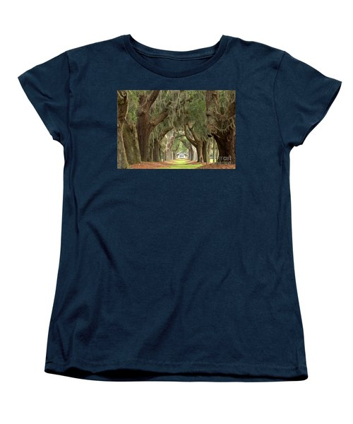 Retreat Avenue Of The Oaks Women's T-Shirt (Standard Cut) by Adam Jewell
