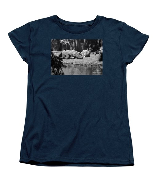 Rhino Nap Time Women's T-Shirt (Standard Cut) by Thomas Woolworth