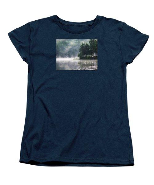 Women's T-Shirt (Standard Cut) featuring the photograph Ridge Road Morning Mist by Joy Nichols