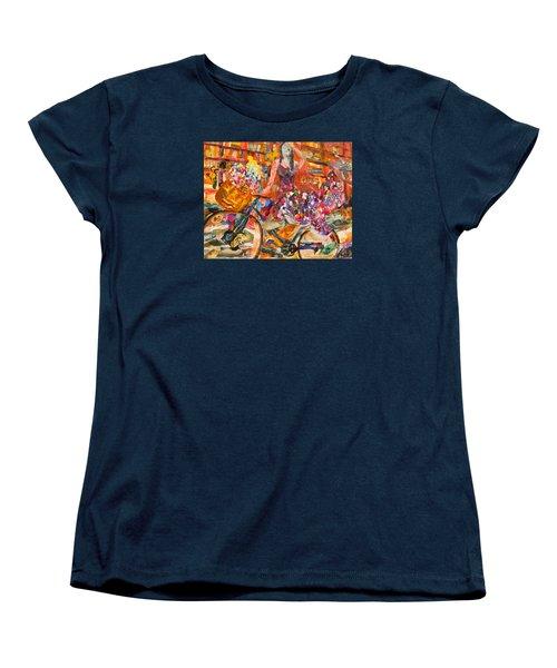 Riding Through Life Women's T-Shirt (Standard Cut) by Michael Cinnamond