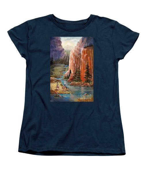 Rim Canyon Ride Women's T-Shirt (Standard Cut) by Marilyn Smith