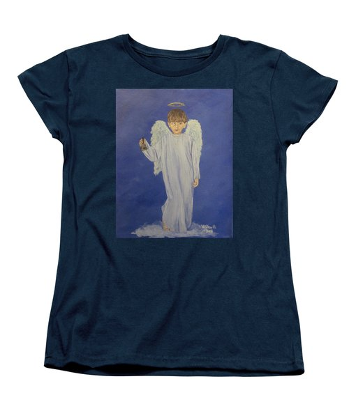 Women's T-Shirt (Standard Cut) featuring the painting Ring-a-ding by Wendy Shoults