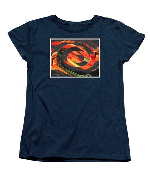 Women's T-Shirt (Standard Cut) featuring the digital art Ring Of Fire by Mariarosa Rockefeller