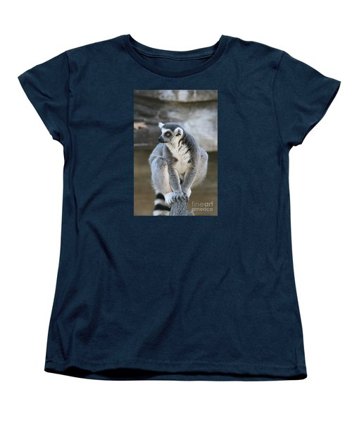 Women's T-Shirt (Standard Cut) featuring the photograph Ring-tailed Lemur #3 by Judy Whitton
