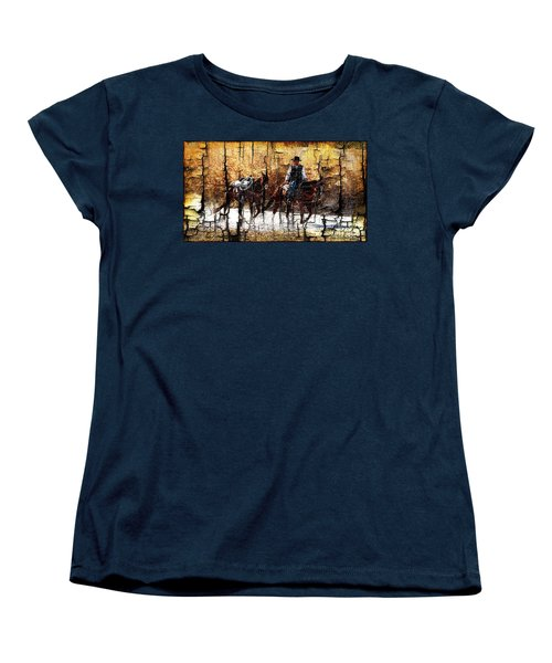Rio Cowboy With Horses  Women's T-Shirt (Standard Cut) by Barbara Chichester