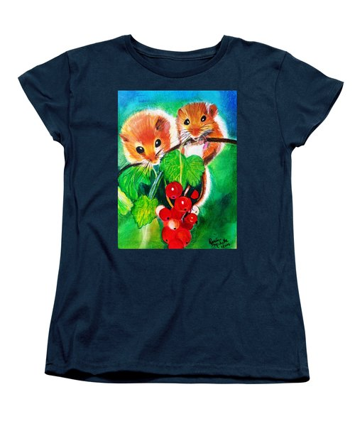 Ripe-n-ready Cherry Tomatoes Women's T-Shirt (Standard Cut) by Renee Michelle Wenker