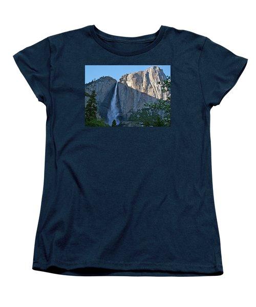 Rising Sun At Upper Yosemite Falls Women's T-Shirt (Standard Cut) by Michele Myers