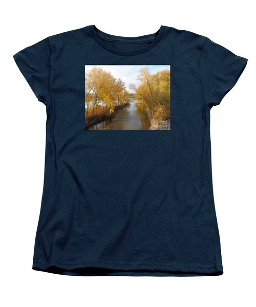 Women's T-Shirt (Standard Cut) featuring the photograph River And Gold by Christina Verdgeline