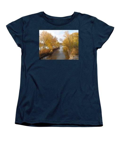 River And Gold Women's T-Shirt (Standard Cut) by Christina Verdgeline