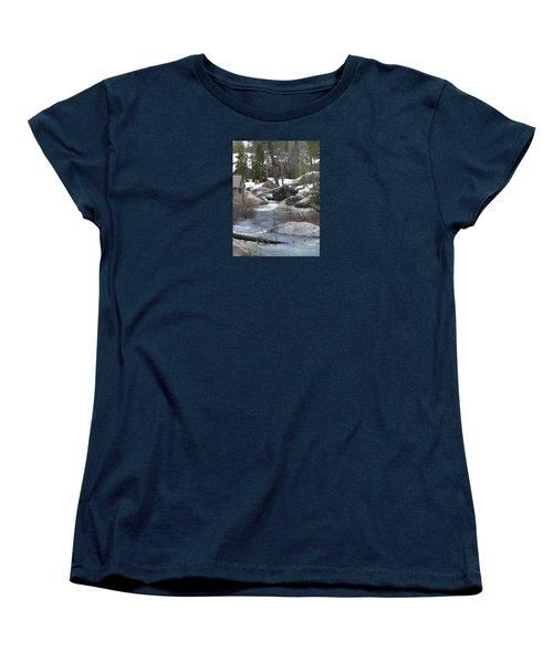 Women's T-Shirt (Standard Cut) featuring the photograph River Cabin by Bobbee Rickard