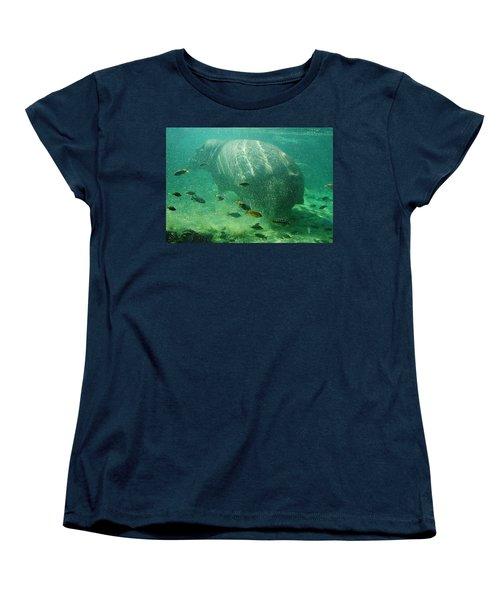 Women's T-Shirt (Standard Cut) featuring the photograph River Horse by David Nicholls